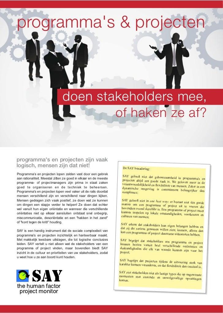programmas & projecten                                doen stakeholders mee,                                        of hak...