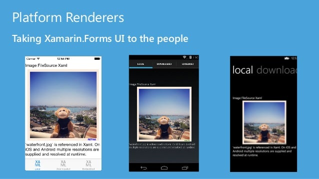 Xamarin.Forms brings common UX to everyone iOS does not have a native control for the iPhone, however Xamarin.Forms uses U...