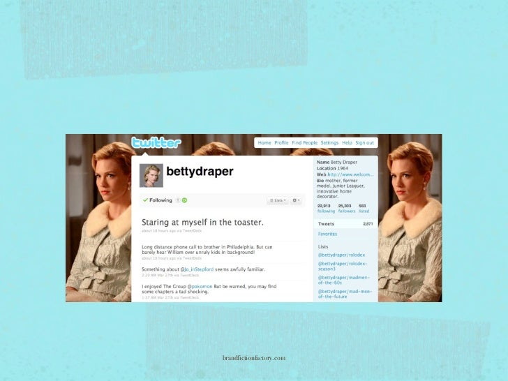 """""""Betty's tweets are simply entertaining. That is, they're simple.     Frequently her tweets are less than 140 characters.""""..."""