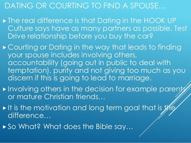 Who is deemed fit to start courting vs dating