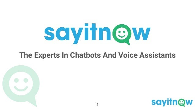 The Experts In Chatbots And Voice Assistants 1