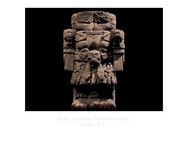 "Copyright ©2012 Pearson Inc.Aztec. Coatlicue. Fifteenth century.Height: 8' 3""."