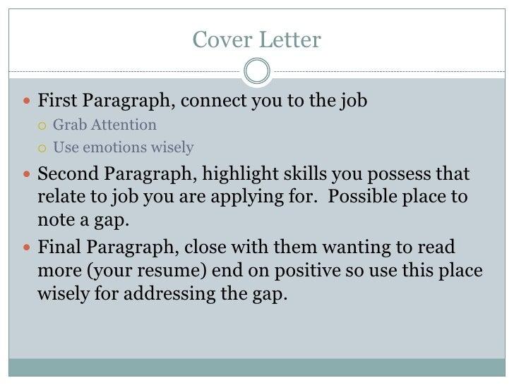 Addressing Gap On Cover Letter