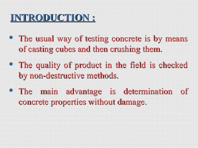 Ndt Testing Of Concrete