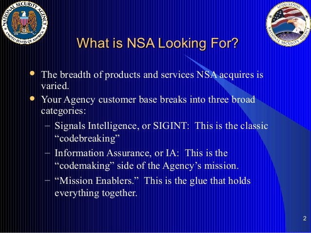 nsa What does