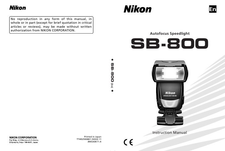 sb 800 rh slideshare net Nikon Speedlight SB-800 Flash Nikon Speedlight D7000