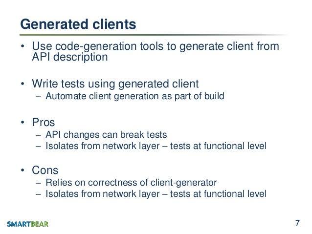 how to write api code generator