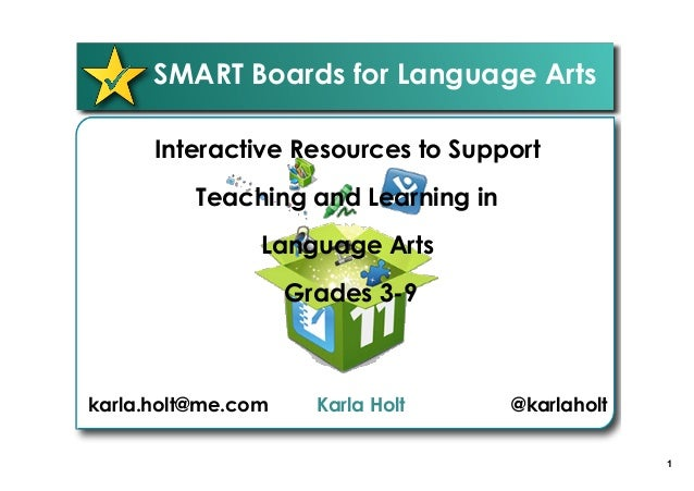 Smart boards for language arts 1 smart boards for language arts interactive resources to support teaching and learning in language arts fandeluxe Gallery