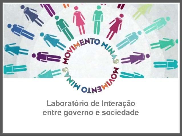 #TAMOJUNTO Laboratório de Interação entre governo e sociedade