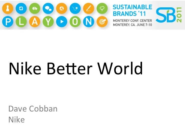 innovate for a better world nike