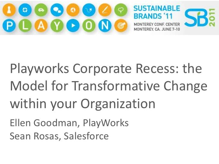 Playworks Corporate Recess: the Model for Transformative Change within your Organization<br />Ellen Goodman, PlayWorks<br ...