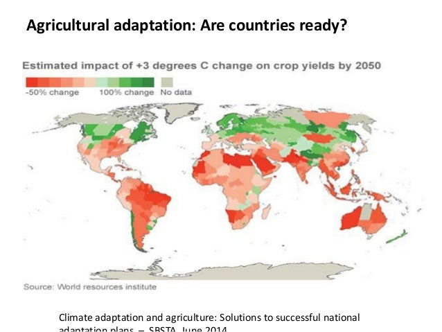 Planning climate adaptation in agriculture: Advances in research, policy and finance Slide 3
