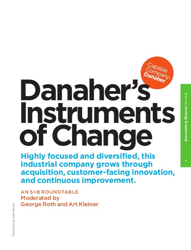 Danaher's Instruments of Change Slide 3