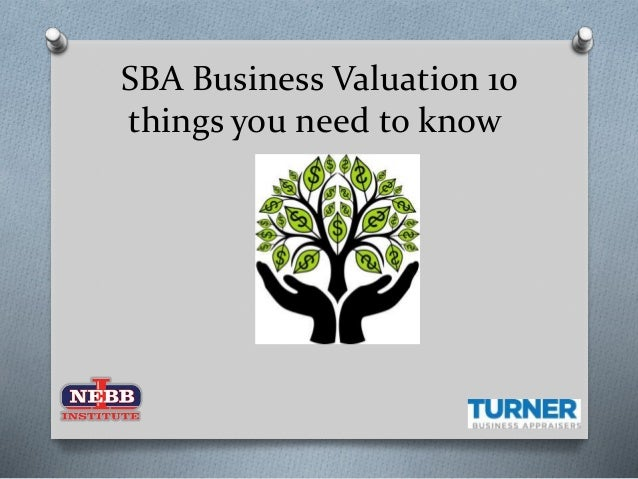 SBA Business Valuation 10 things you need to know