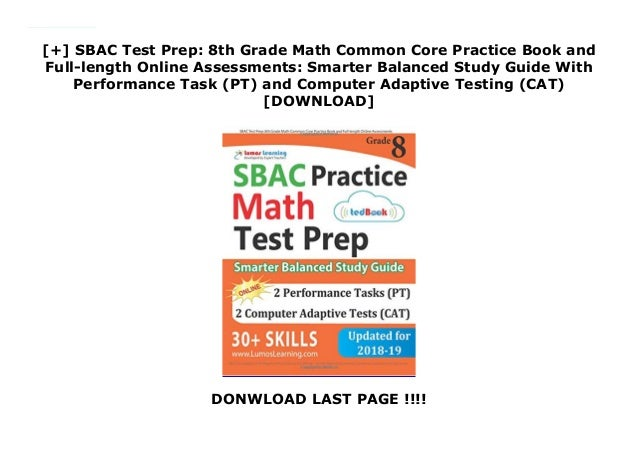 image regarding Smarter Balanced Practice Test Printable identified as SBAC Try out Prep: 8th Quality Math Preferred Main Coach Reserve and