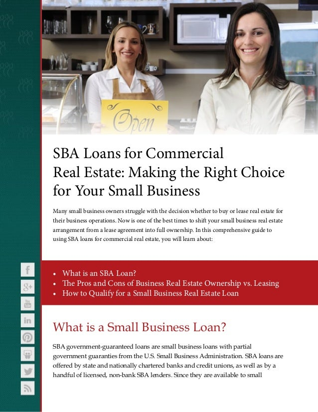SBA Loans for Commercial Real Estate: Making the Right ...