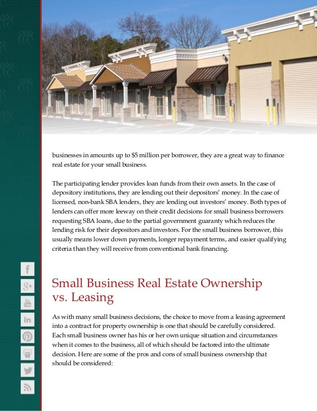 Commercial Real Estate Loans and Property Financing