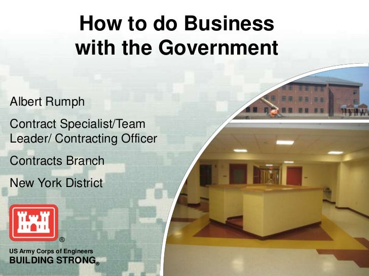 Albert Rumph<br />Contract Specialist/Team Leader/ Contracting Officer<br />Contracts Branch<br />New York District<br />