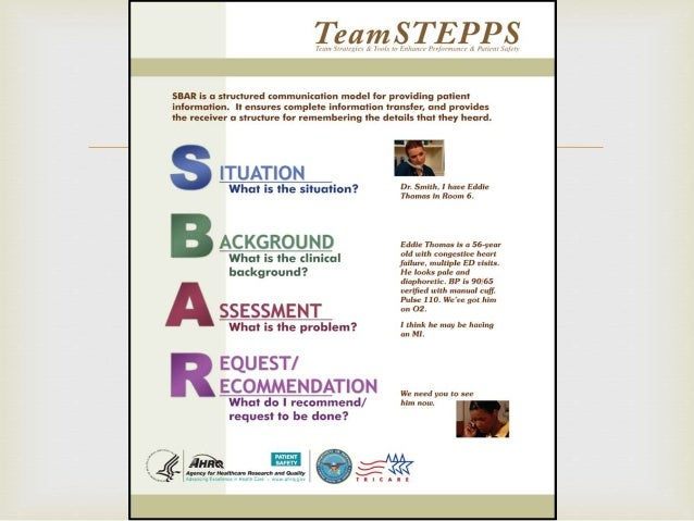 SBAR communication model in healthcare organization