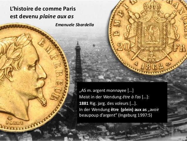 """L'histoire de comme Parisest devenu plaine aux as                 Emanuele Sbardella                            """"AS m. arg..."""