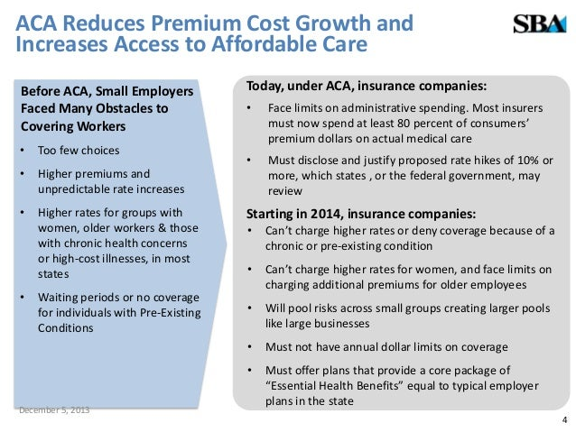 Affordable Care Act 101 What The Health Care Law Means For Small Bus