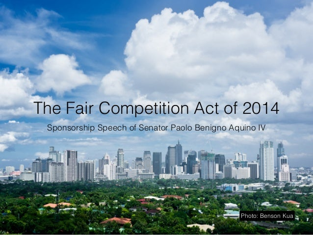 Sen. Bam Aquino's slide presentation on his Fair Competition Sponsorship Speech