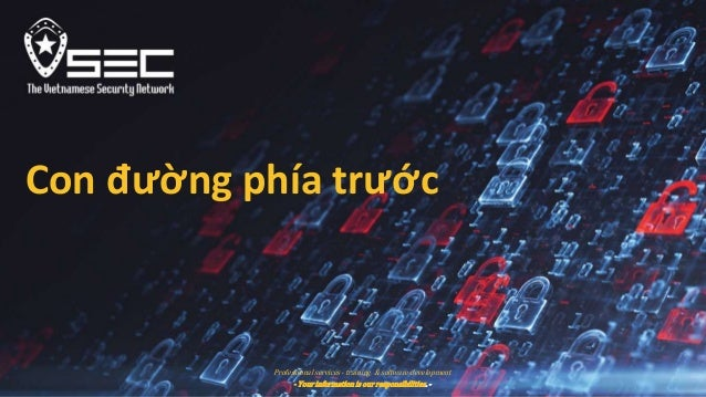 Professional services - training & software development - Your information is our responsibilities. - Con đường phía trước