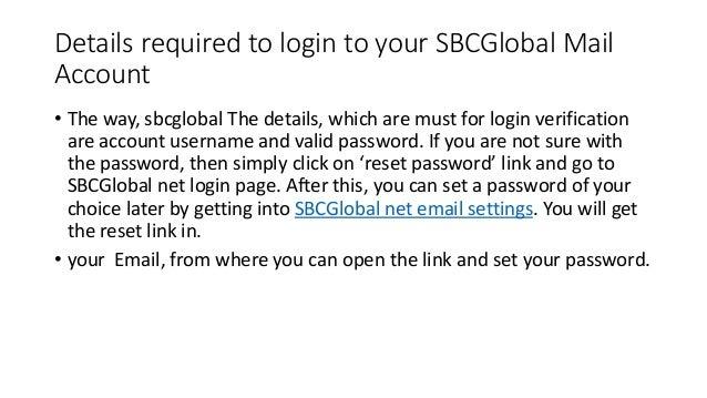 Sbc global mail login