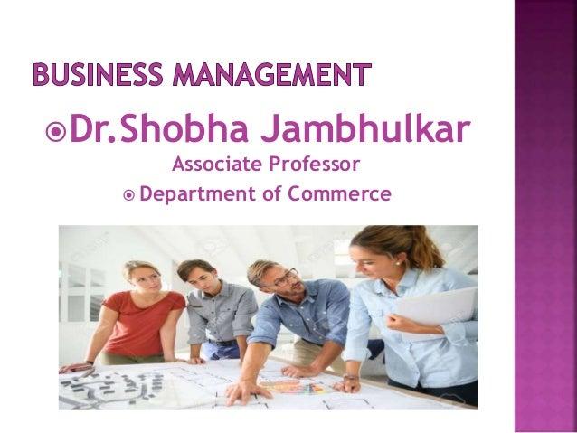 Dr.Shobha Jambhulkar Associate Professor  Department of Commerce