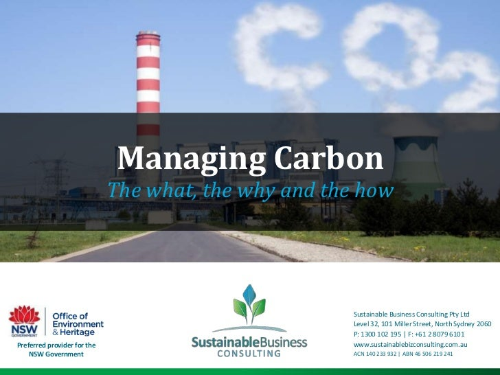 Managing Carbon                             The what, the why and the how                                                 ...