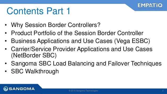 Sangoma SBC Training Presentation