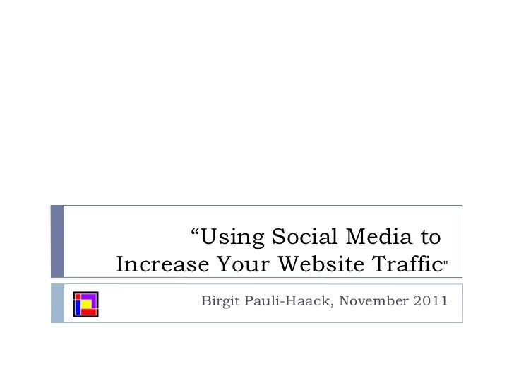 Using Social Media to Increase Traffic on Your Webbsite
