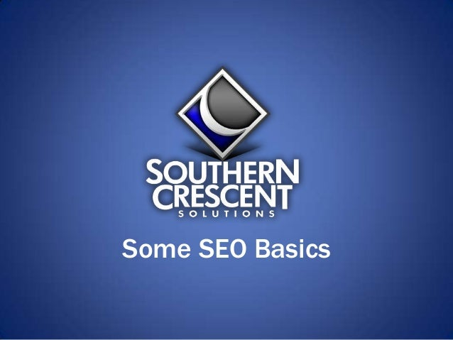 Some SEO Basics