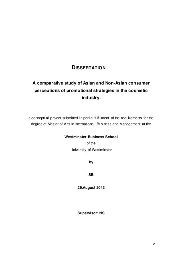 Master of arts dissertation