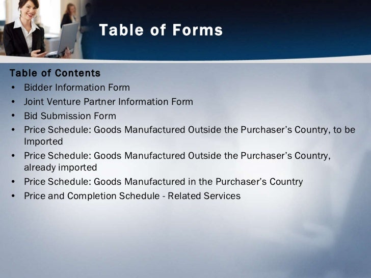 bidding forms standard bidding documents procurement of goods part 1 bidding procedures 2