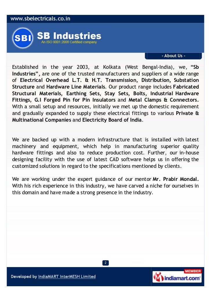 Sb Industries, Kolkata, Hardware Line Materials