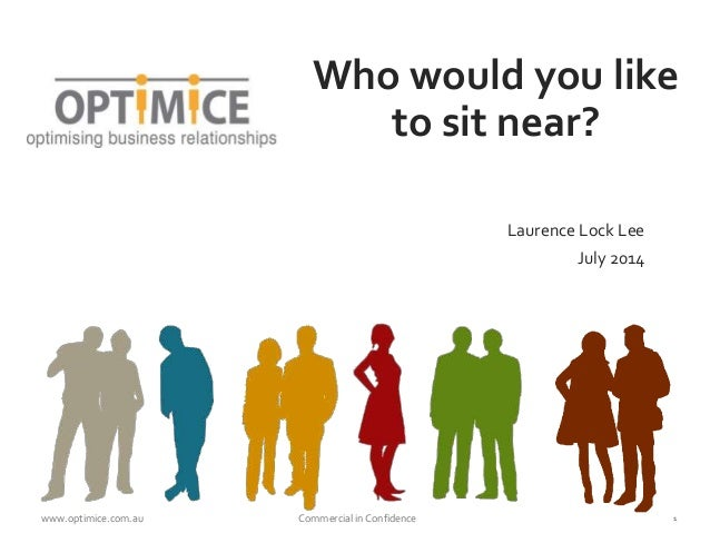 www.optimice.com.au Commercial in Confidence 1 Who would you like to sit near? Laurence Lock Lee July 2014