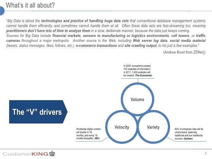Big data bring big value to the Social CRM Slide 2