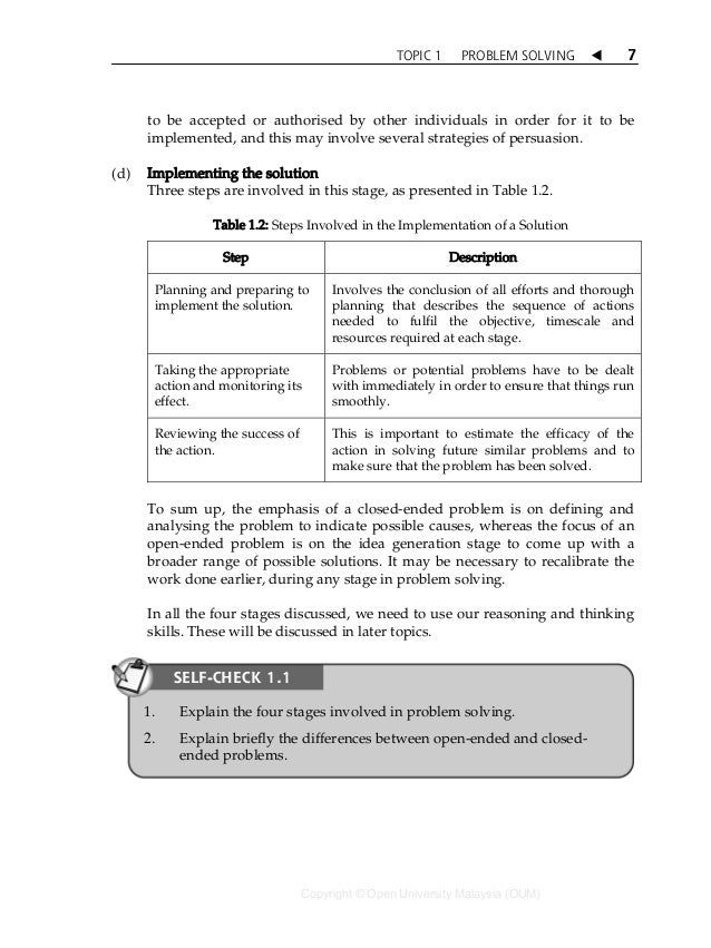 sbfs1103 thinking skills and problem solving