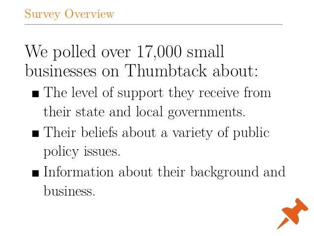 2015 Thumbtack.com Small Business Friendliness Survey Slide 2
