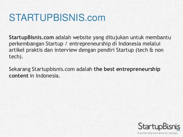StartupBisnis.com Indonesia General Profile for Public Slide 2