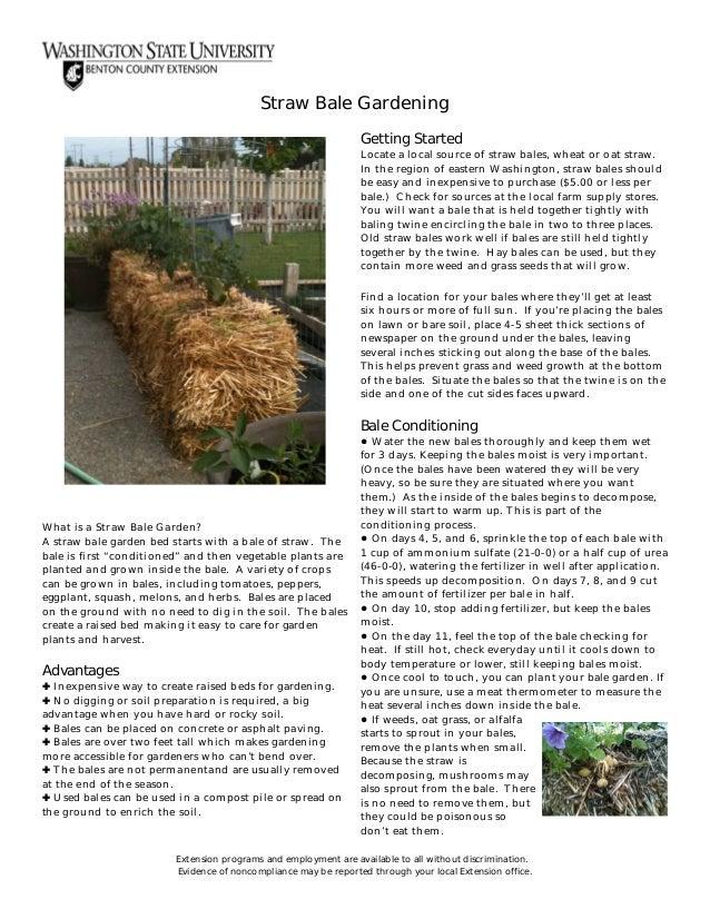how to build straw bale garden