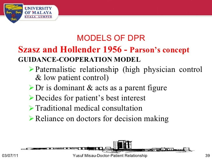 models of doctor patient relationship