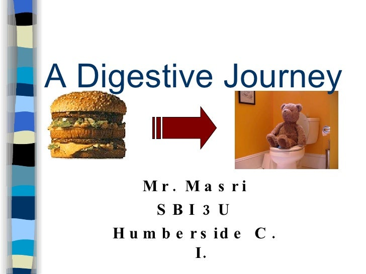 A Digestive Journey M r .  Masr i SBI   3U Humberside C. I.