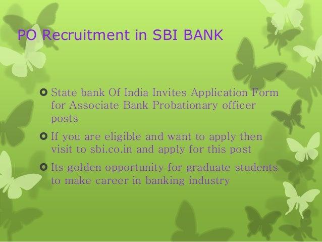 apply online for sbi associate bank po 2014