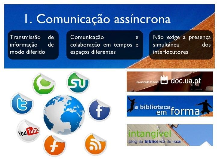 <ul><li>Comunicação assíncrona </li></ul>Transmissão de informação de modo diferido Comunicação e colaboração em tempos e ...