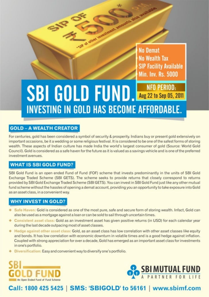Sbi gold fund presentation - think before you invest