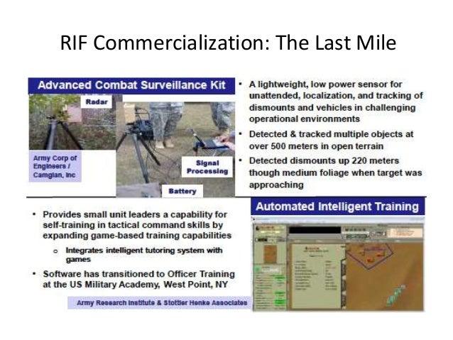 RIF Commercialization The Last Mile