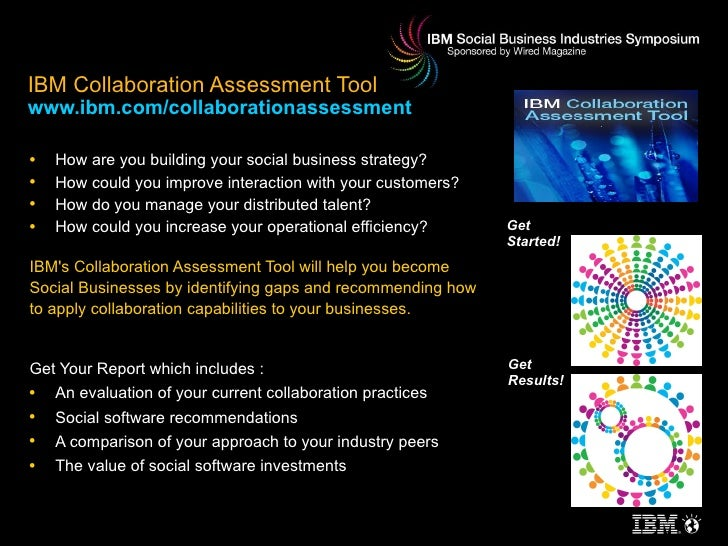 IBM Collaboration Assessment Tool www.ibm.com/collaborationassessment <ul><li>How are you building your social business st...