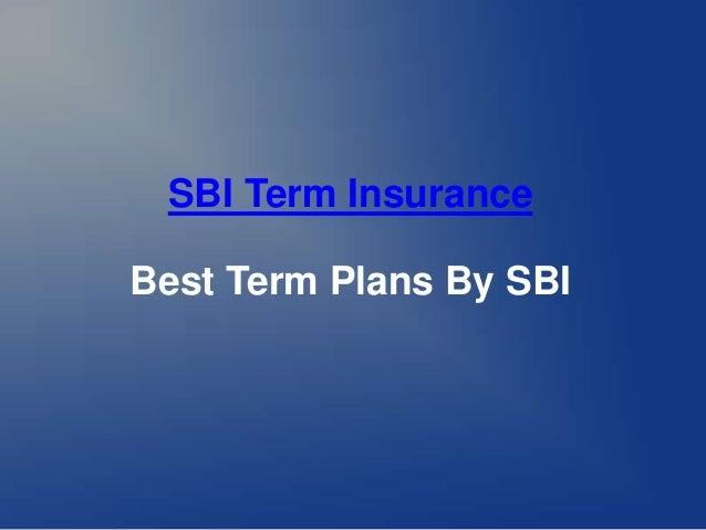 SBI Term Insurance Best Term Plans By SBI